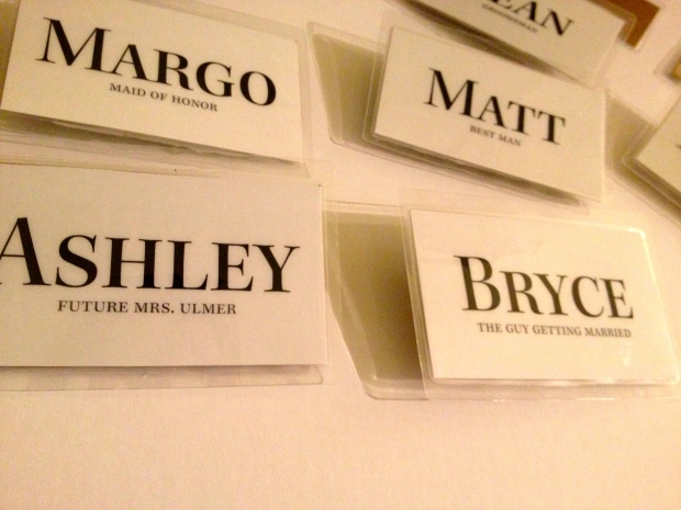 Wedding Rehearsal Name Tags