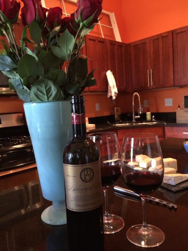 Roses & Anniversary Wine