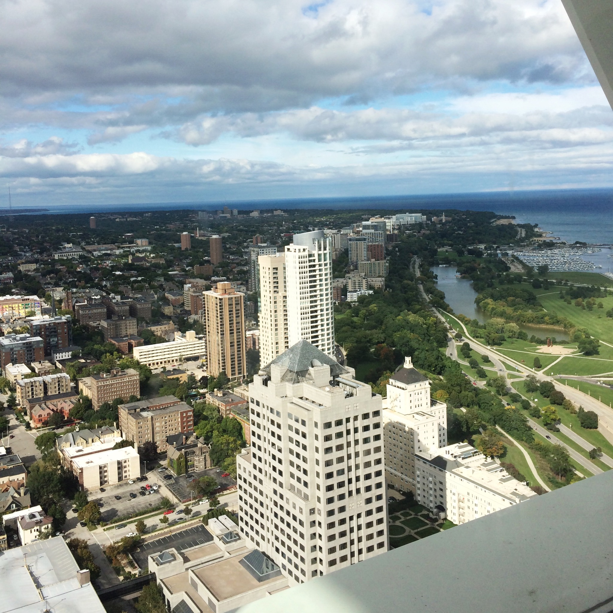 View of Milwaukee from US Bank Observation Deck