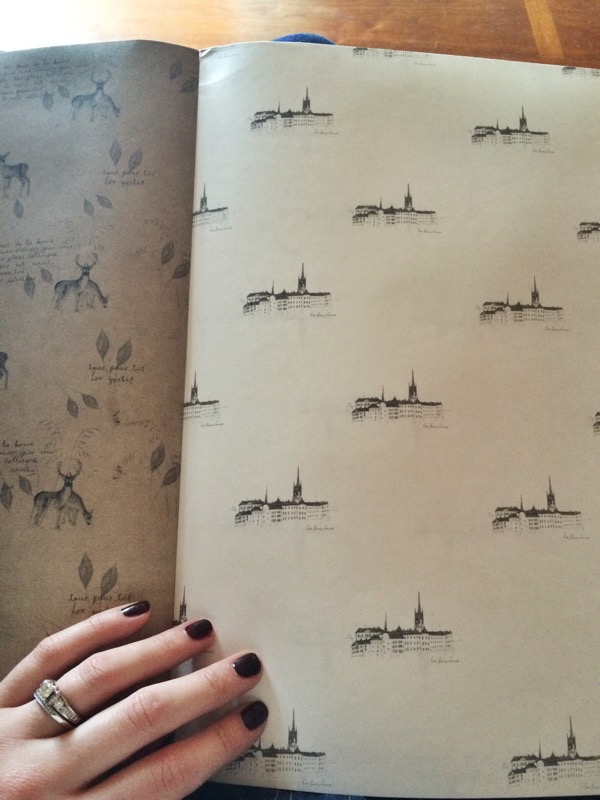 Pattern Wrapping Paper Book O-Check Design Graphics